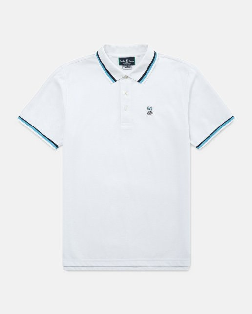 mens sport lumley polo - white